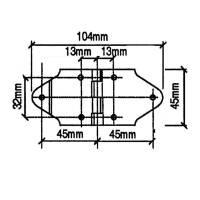 Penn Elcom P0610N - Scharnier 104 x 45 mm vernickelt