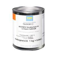 Warnex Strukturlack schwarz halbmatt 1 kg