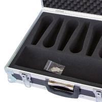 Mikrofonkoffer abschließbar für 7 Mikrofone und Zubehör
