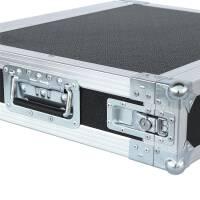 """2 HE Amp Rack 19"""" Double Door 45 CM Flightcase 7 mm MPX Butterfly"""