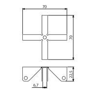 Adam Hall 4271 - Stabilisierungskreuz 6,7 mm für...