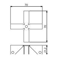 Adam Hall 4291 - Stabilisierungskreuz 9,2 mm für...