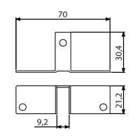 Adam Hall 4292 - Trennwandbefestigung 9,2 mm
