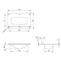 Adam Hall 38081 - Stapel-Einbauschale gekröpft für Rollen bis 100 mm