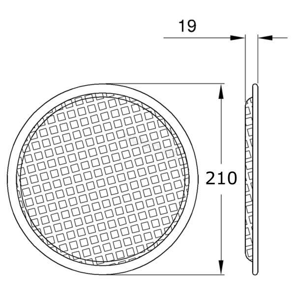 Lautsprecher Schutzgitter Rund 8 Stahl Schwarz 21 Cm