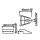 Lautsprecherklammer Kunststoff für Lautsprechergitter