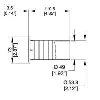 Bassreflexrohr 50 mm für Lautsprechergehäuse