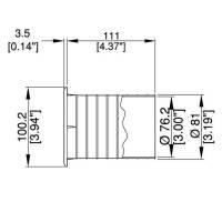 Bassreflexrohr 75 mm für Lautsprechergehäuse