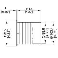 Bassreflexrohr 100 mm für Lautsprechergehäuse