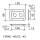 Penn Elcom D0604Z Boxen Einbauplatte verzinkt für 2 D-Typ