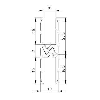 Adam Hall 6102 Aluminium Hybrid Schließprofil...
