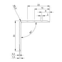 Adam Hall 6105 Aluminium Kantenschutz 30x30 mm
