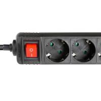 Adam Hall 8747 S 3 Steckdosenleiste 3-fach mit Schalter