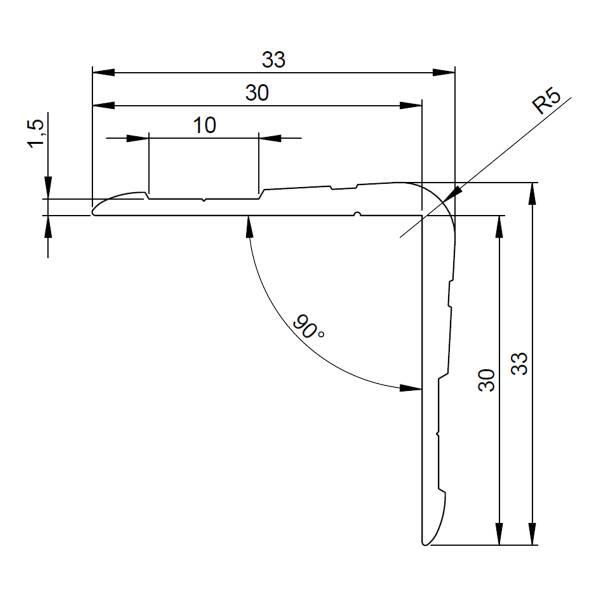adam hall 6110 aluminium kantenschutz 33 x 33 mm casebau. Black Bedroom Furniture Sets. Home Design Ideas