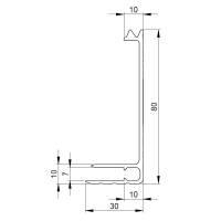 Adam Hall 6112 Aluminium Bodenrahmen 80 mm Einschub 7 mm