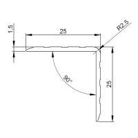 Adam Hall 6115 Aluminium Kantenschutz 25x25 mm