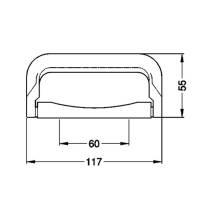 Penn Elcom HG 4260 Koffergriff Kunststoff schwarz 117 mm