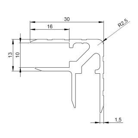 Adam Hall 6119 Aluminium Casemaker 30 mm Einschub 10 mm