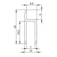 Adam Hall 6126 Aluminium h-Profil für 7 mm...