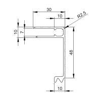 2 m Adam Hall 6116 Aluminium Deckelrahmen 48 mm Einschub 7 mm