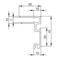 2 m Adam Hall 6124 Deckelrahmen 41 mm mit Overlatch Schließrinne Einschub 7 mm