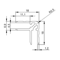 Adam Hall 6137 Aluminium Casemaker 18 mm Einschub 4,5 mm