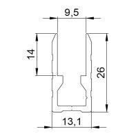 2 m Adam Hall 6220 Aluminiumkappe und Trennwandbefestigung Einschub 9,5 mm