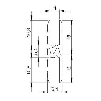 1 m Adam Hall 6132 Aluminium Hybrid Schließprofil Einschub 4 mm
