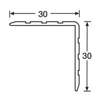 1 m Adam Hall 6605 Kunststoff Kantenschutz 30x30mm schwarz