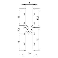 1 m Adam Hall 6142 F Aluminium Schließprofil female Einschub 7 mm