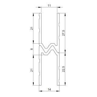 1 m Adam Hall 6201 Aluminium Hybrid Schließprofil Einschub 11 mm