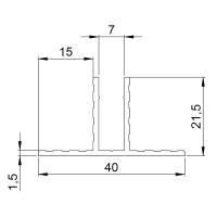 2 m Adam Hall 6210 Kanalprofil für 7 mm Trennwände