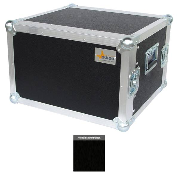 7 HE Rack 19 Double Door 39 CM Flightcase Phenol schwarz