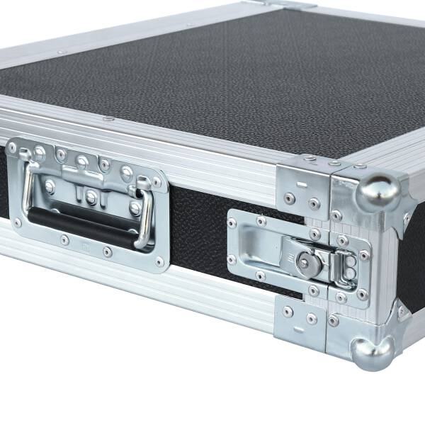 2 HE Rack 19 Double Door 39 CM Flightcase Butterfly PVC schwarz
