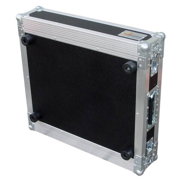 2 HE Rack 19 Double Door 39 CM Flightcase Butterfly blau RSH