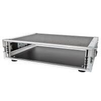 """2 HE Amp Rack 19"""" Double Door 45 CM Flightcase Butterfly Phenol schwarz RSH"""