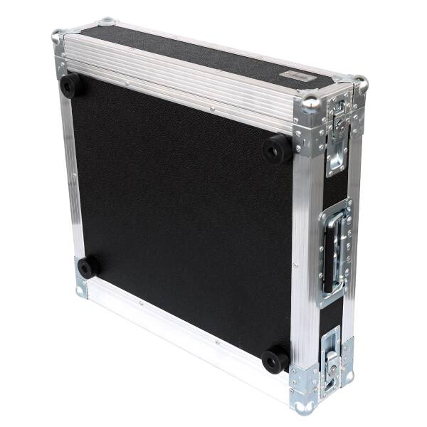 2 HE Amp Rack 19 Double Door 45 CM Flightcase Butterfly PVC schwarz