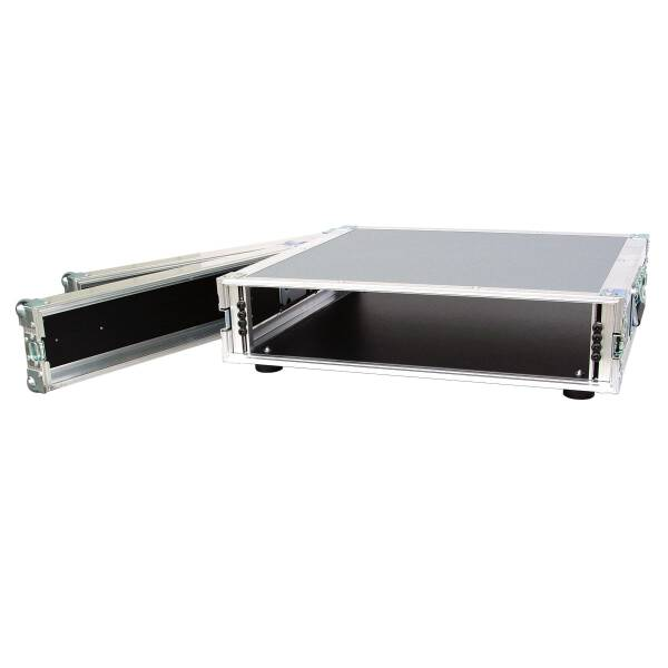 2 HE Amp Rack 19 Double Door 45 CM Flightcase Butterfly grau RSH