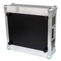 """3 HE Amp Rack 19"""" Double Door 45 CM Flightcase Phenol schwarz"""