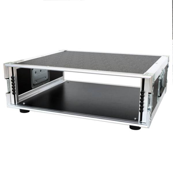 3 HE Amp Rack 19 Double Door 45 CM Flightcase PVC schwarz
