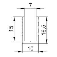 Adam Hall 6200 Aluminium U-Profil 7 mm Einschub