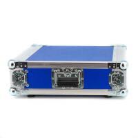 """3 HE Amp Rack 19"""" Double Door 45 CM Flightcase blau RSH"""
