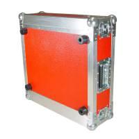 """3 HE Amp Rack 19"""" Double Door 45 CM Flightcase rot"""