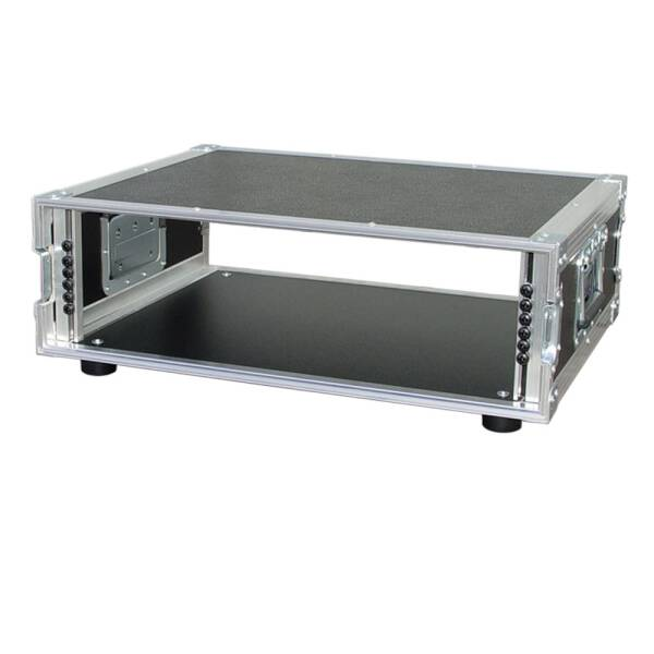 3 HE Amp Rack 19 Double Door 45 CM Flightcase grau