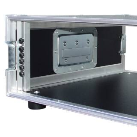 """3 HE Amp Rack 19"""" Double Door 45 CM Flightcase grau"""