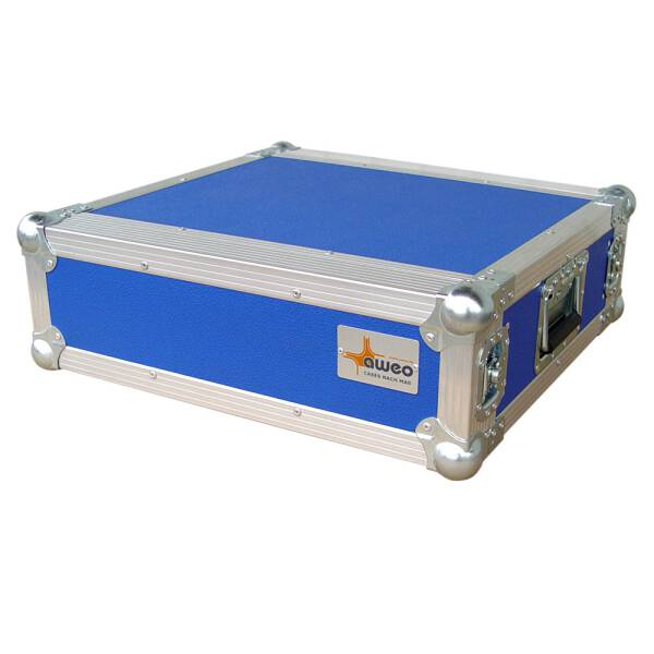 3 HE Rack 19 Double Door 39 CM Flightcase 7 mm MPX blau RSH