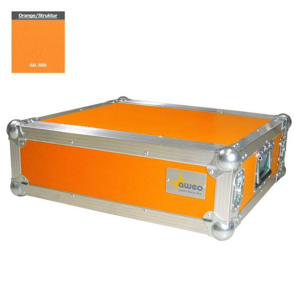 3 HE Rack 19 Double Door 39 CM Flightcase 7 mm MPX orange RSH
