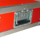 """3 HE Rack 19"""" Double Door 39 CM Flightcase 7 mm MPX rot RSH"""