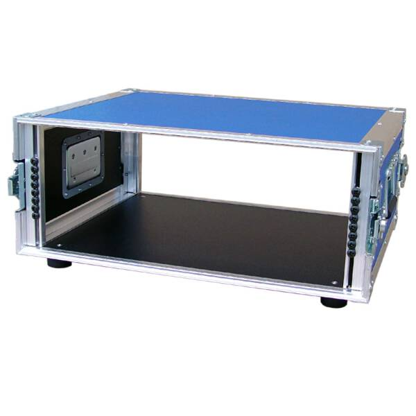 4 HE Amp Rack 19 Double Door 45 CM Flightcase blau