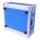 """4 HE Rack Case 19"""" Double Door Rack 45 CM blau"""